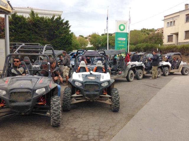 Premier raid RZR en territoire Corse